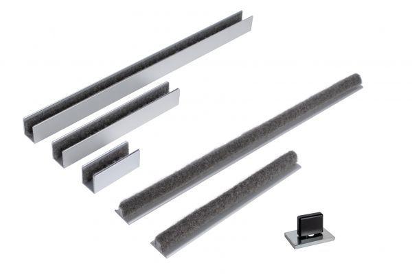 Bodenführung zum kleben Schiebetür Holz Glas Führung Glasschiebetür Holzschiebetür