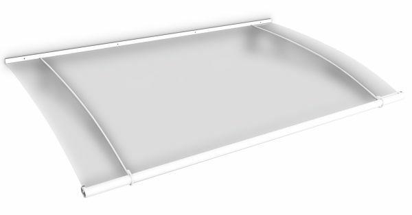 LT-Line Pultbogenvordach 1500x950 mm, Acrylglas satiniert, Stahl weiß pulverbeschichtet