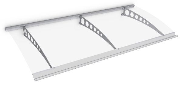 Style Plus Pultbogenvordach 2000x900 mm, Polycarbonat klar, Edelstahl V2A, Circle