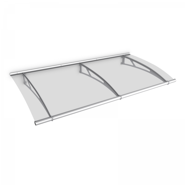 LT-Line Pultbogenvordach 1900x950 mm, Acrylglas klar, Edelstahl V2A matt gebürstet