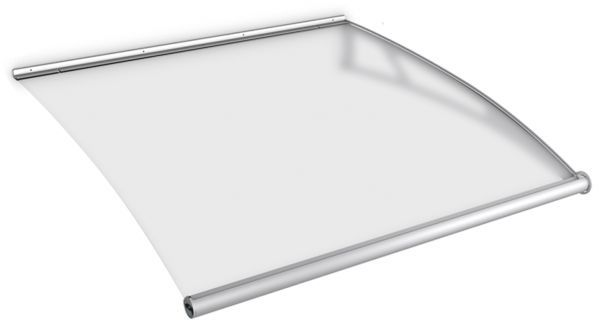 LT-Line modular Pultbogenvordach Erweiterungsmodul 1218x1420 mm, Acrylglas satiniert, Edelstahl V2A