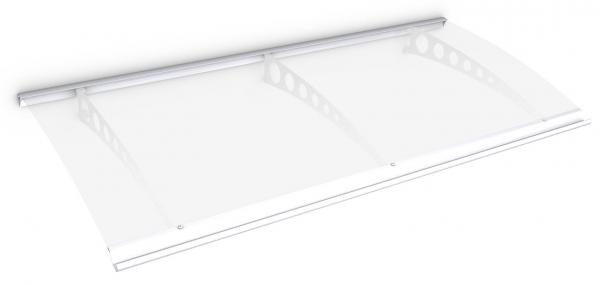 Style Plus Pultbogenvordach 2000x900 mm, Polycarbonat klar, Stahl weiß, Circle