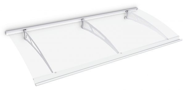 Style Plus Pultbogenvordach 2000x900 mm, Polycarbonat, Stahl weiß, Classic