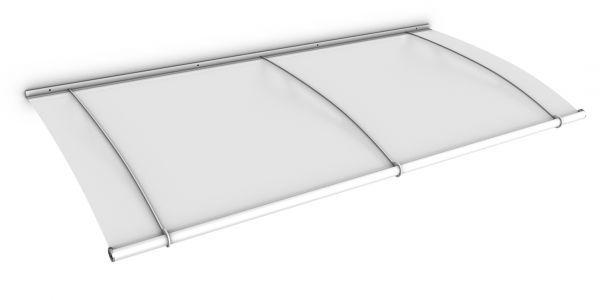 LT-Line Pultbogenvordach 1900x950 mm, Acrylglas satiniert, Stahl weiß pulverbeschichtet