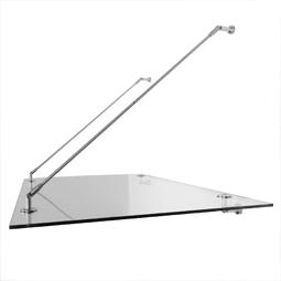 Pultvordächer:  Geradlinige Form aus Glas im Fokus