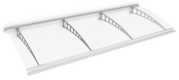 Style Plus Pultbogenvordach 2400x900 mm, Polycarbonat klar, Stahl weiß, Circle