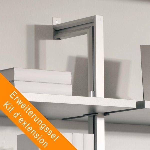 Erweiterungsset 1 Regalständer für Wandmontage mit 8 Regalbodenhaltern