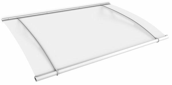 LT-Line Pultbogenvordach XL 2050x1420 mm, Acrylglas satiniert, Stahl weiß pulverbeschichtet