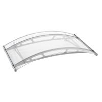 LT-Line Rundbogenvordach 1500 1480x910 mm, Acrylglas klar, Edelstahl V2A matt gebürstet