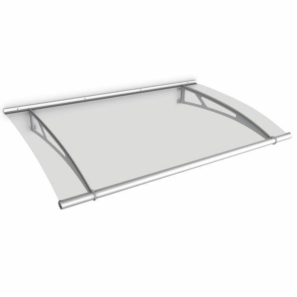 LT-Line Pultbogenvordach 1500x950 mm, Acrylglas klar, Edelstahl V2A matt gebürstet