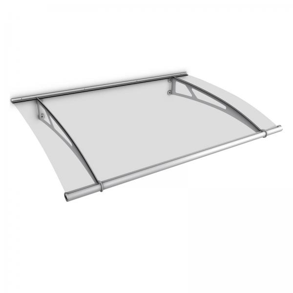 LT-Line Pultvordach XL 2050x1420 mm, Acrylglas klar, Edelstahl V2A und V4A matt gebürstet