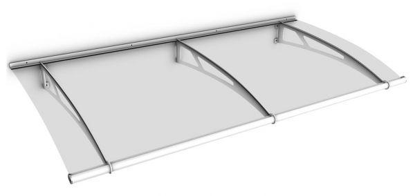 LT-Line Pultbogenvordach 1900x950 mm, Acrylglas klar, Stahl weiß pulverbeschichtet