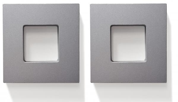 Quadratgriff 2er Set, Aluminium, selbstklebend