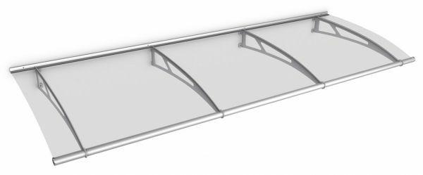 LT-Line Pultbogenvordach 2700x950 mm, Acrylglas klar, Edelstahl V2A matt gebürstet