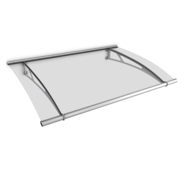 LT-Line Pultvordach XL 2050x1420 mm, Acrylglas klar, Edelstahl V2A matt gebürstet