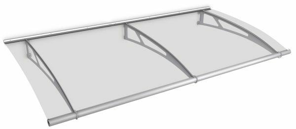 LT-Line modular Pultbogenvordach Basismodul 2874x1420 mm, Acrylglas klar, Edelstahl V2A matt gebürst