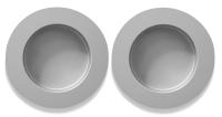 Griffmuschel 2er Set, Aluminum, selbstklebend