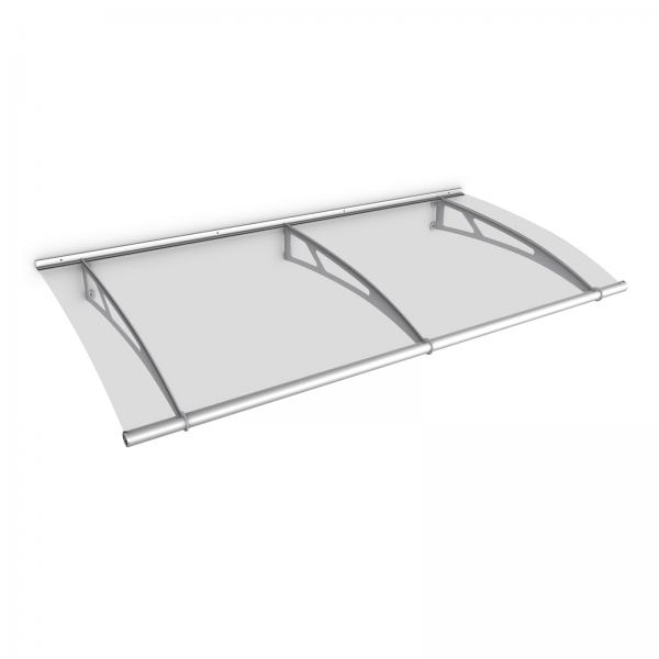 LT-Line Pultbogenvordach 1900x950 mm, Acrylglas klar, Edelstahl V2A/V4A matt gebürstet
