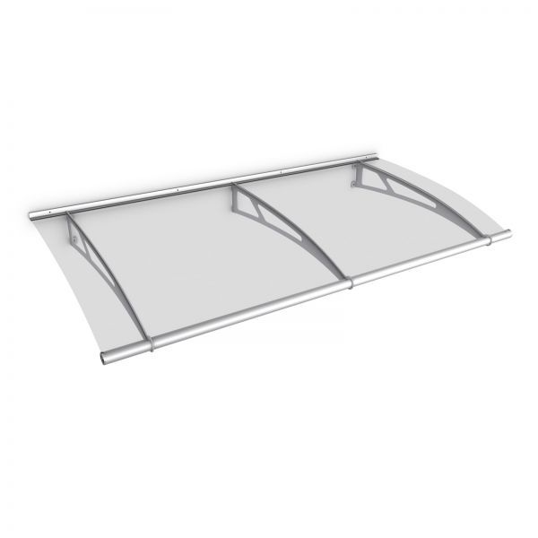 LT-Line Pultbogenvordach 2000x950 mm, Acrylglas klar, V2A oder V4A matt gebürstet, Classic