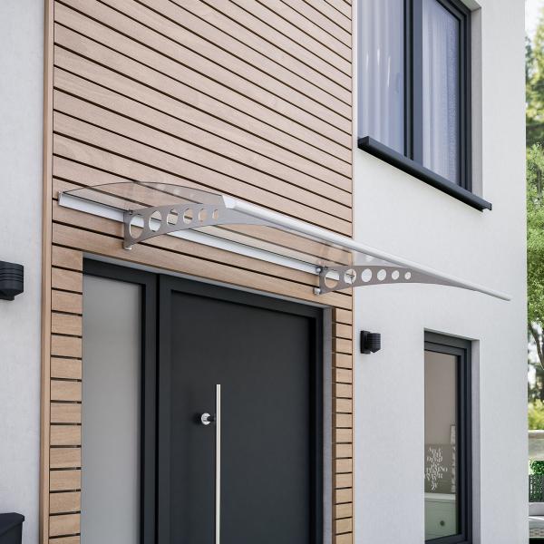 Style Plus Pultbogenvordach 1600x900 mm, Polycarbonat klar, Edelstahl V2A, Circle