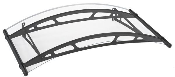 LT-Line Rundbogenvordach 1500 1480x910 mm, Acrylglas klar, Stahl anthrazit pulverbeschichtet