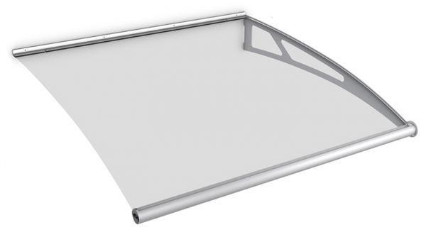 LT-Line modular Pultbogenvordach Erweiterungsmodul 1218x1420 mm, Acrylglas klar, Edelstahl V2A matt