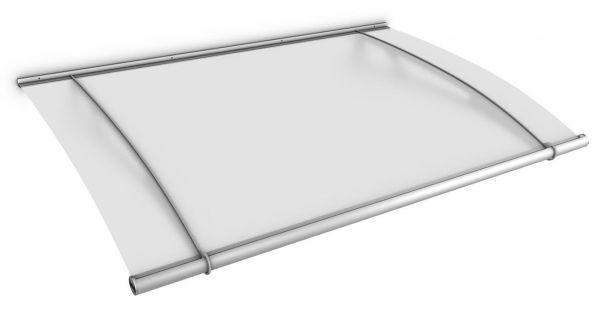 LT-Line Pultbogenvordach XL 2050x1420 mm, Acrylglas satiniert, Edelstahl V2A matt gebürstet