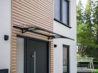 Style Plus Pultbogenvordach 1600x900 mm, Polycarbonat, Stahl anthrazit, Classic
