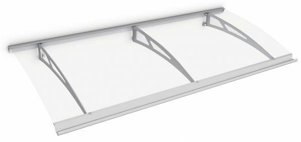 Style Plus Pultbogenvordach 2000x900 mm, Polycarbonat klar, Edelstahl V2A, Classic