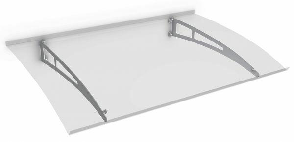 Sunny 1 Pultbogenvordach 1400x900 mm, Polycarbonat klar, Edelstahl V2A matt gebürstet