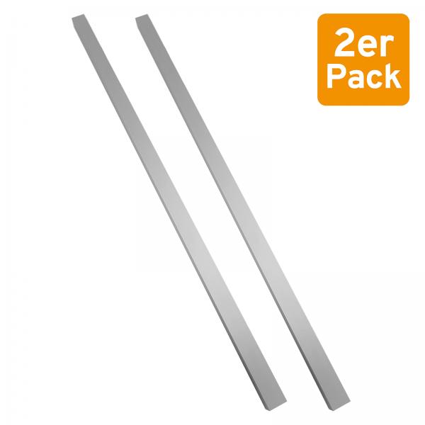 2er-Set Stabgriff für Glasschiebetüren, Aluminium, 400mm, selbstklebend