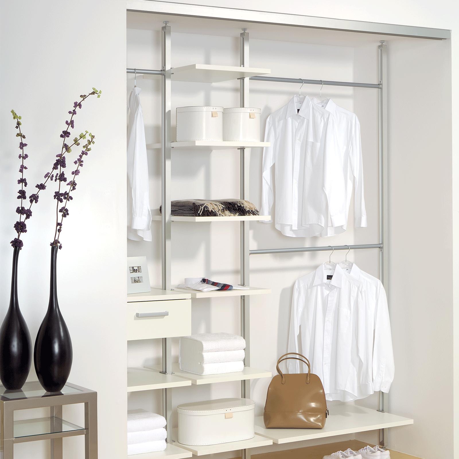 kleiderstange regalst nder erweiterungsset regal b cherregal wohnwand wandregal ebay. Black Bedroom Furniture Sets. Home Design Ideas