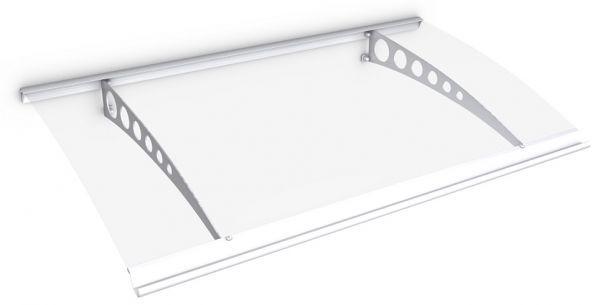 Style Plus Pultbogenvordach 1600x900 mm, Polycarbonat klar, Stahl Weiß, Circle