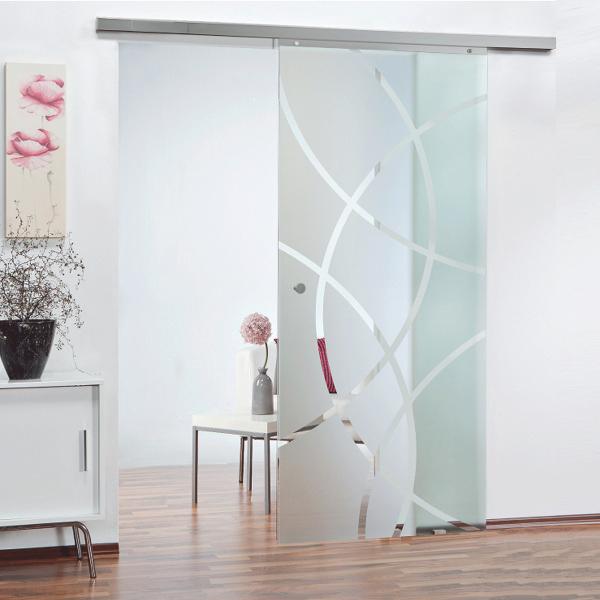 Glas-Schiebetürblatt kreisförmig 880x2035mm