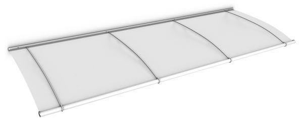 LT-Line Pultvordach 2700x950 mm, Acrylglas satiniert, Stahl weiß pulverbeschichtet