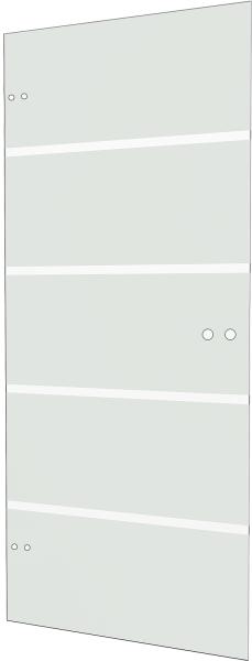Glasdrehtür Blockstreifen 834x1972mm