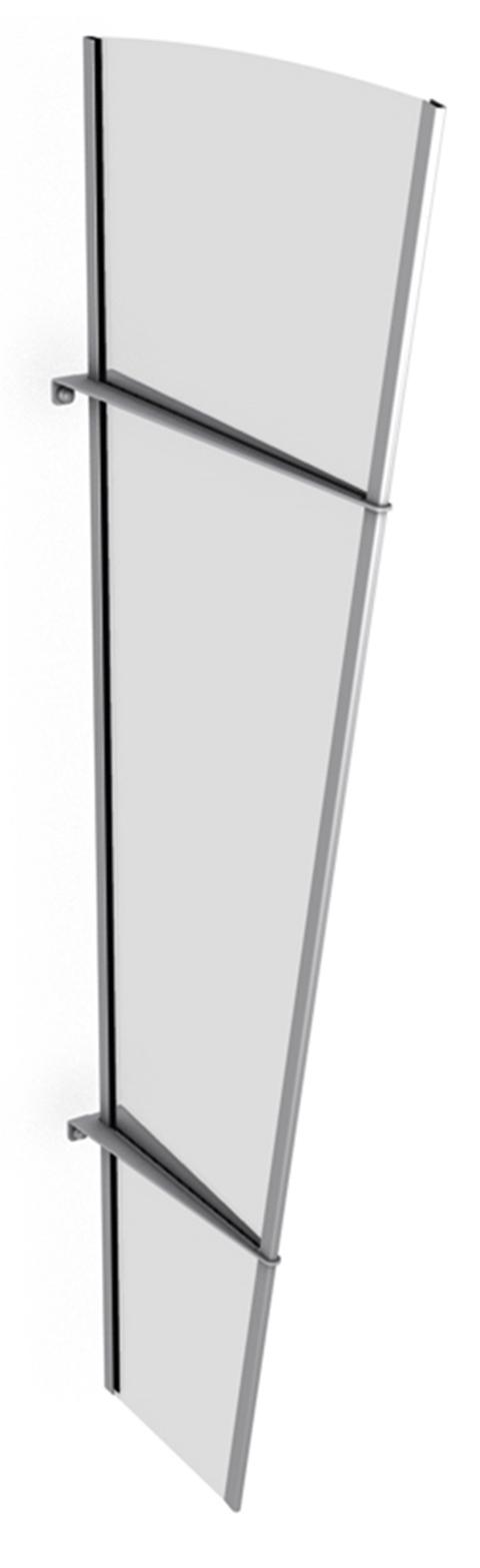 vordach seitenelement 620x320x1670 mm schiebet ren profi. Black Bedroom Furniture Sets. Home Design Ideas