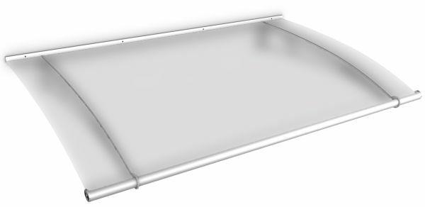 LT-Line Pultbogenvordach 1500x950 mm, Acrylglas satiniert, Edelstahl V2A, matt gebürstet