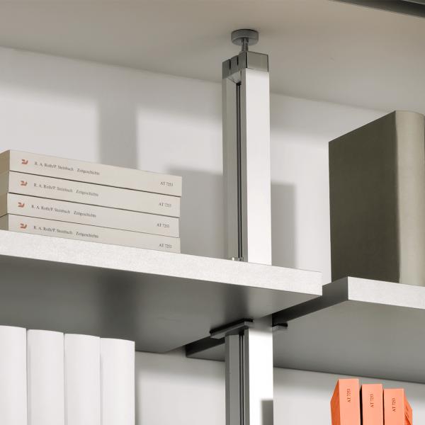 2 Stück Regalständer für Deckenmontage mit 8 Regalbodenhaltern