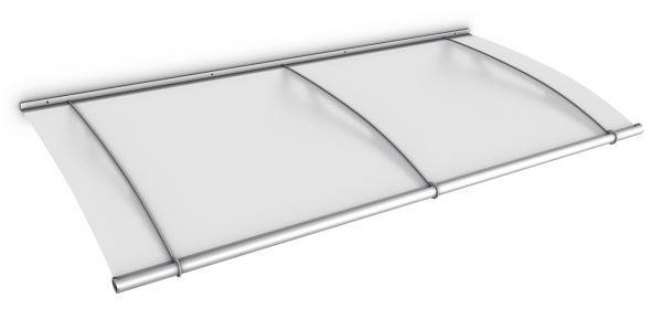 LT-Line Pultbogenvordach 1900x950 mm, Acrylglas satiniert, Edelstahl V2A matt gebürstet