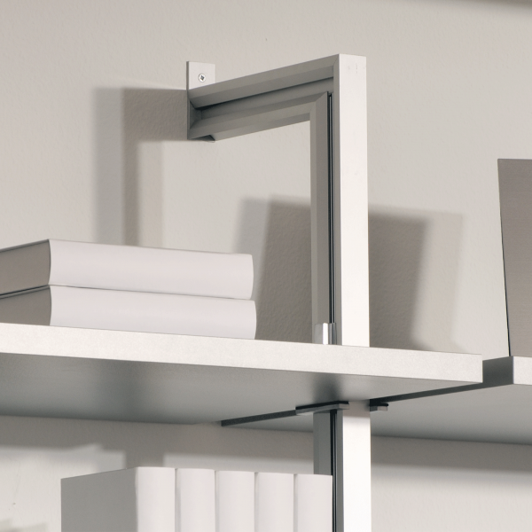 2 Stück Regalständer für Wandmontage mit 8 Regalbodenhaltern