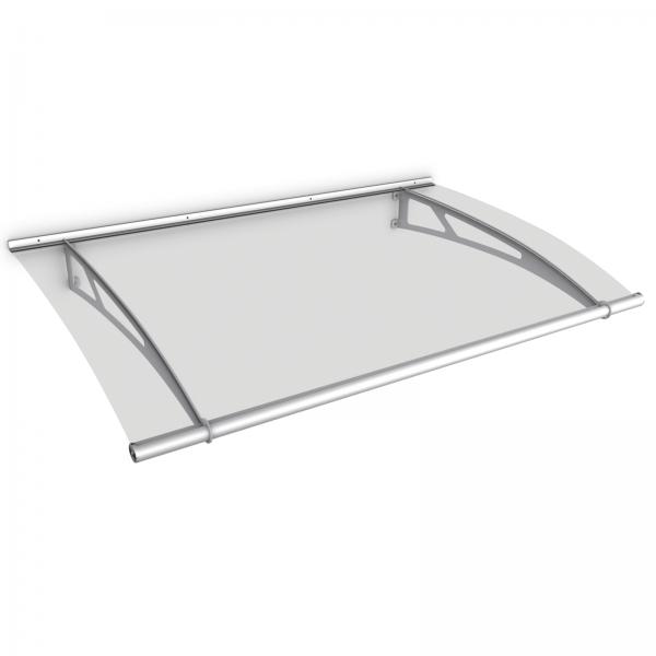 LT-Line Pultbogenvordach 1500x950 mm, Acrylglas klar, Edelstahl V2A oder V4A matt gebürstet